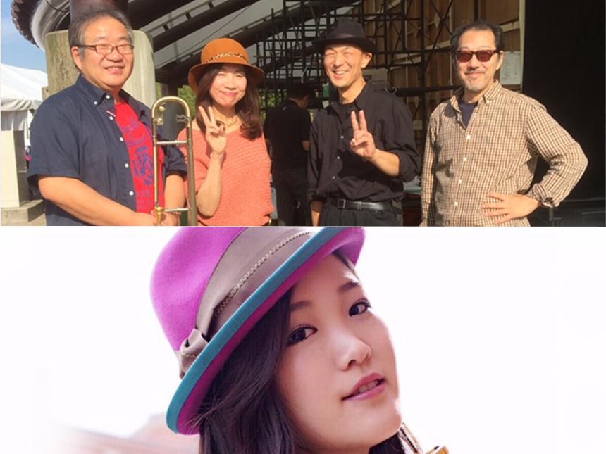 中石博之(tb)串田陽子(pf)黒石昇(ba)マーシャル大木(dr)小泉奈那(trumpet & vocal)