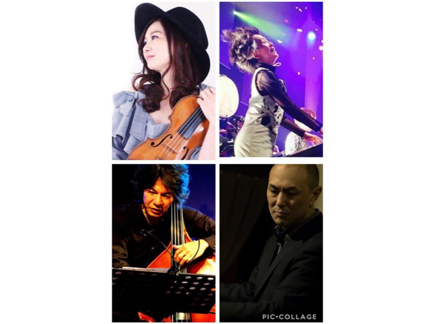RElKO(violin) 宮川真由美(piano) 原満章(bass) マーシャル大木(dr)